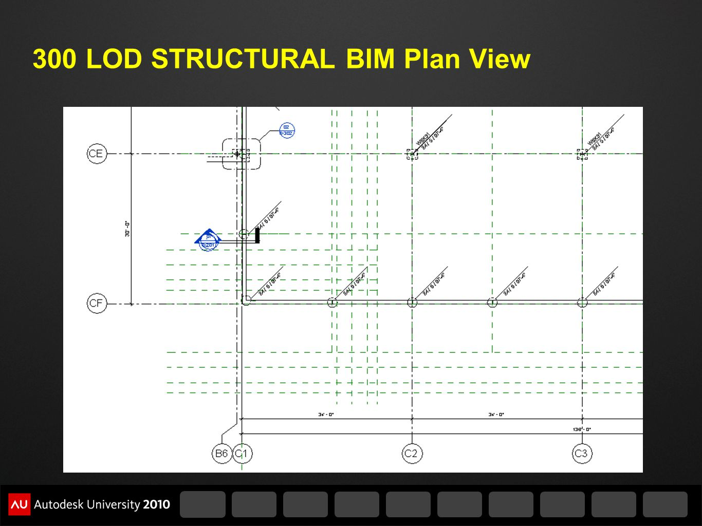 300 LOD STRUCTURAL BIM Plan View