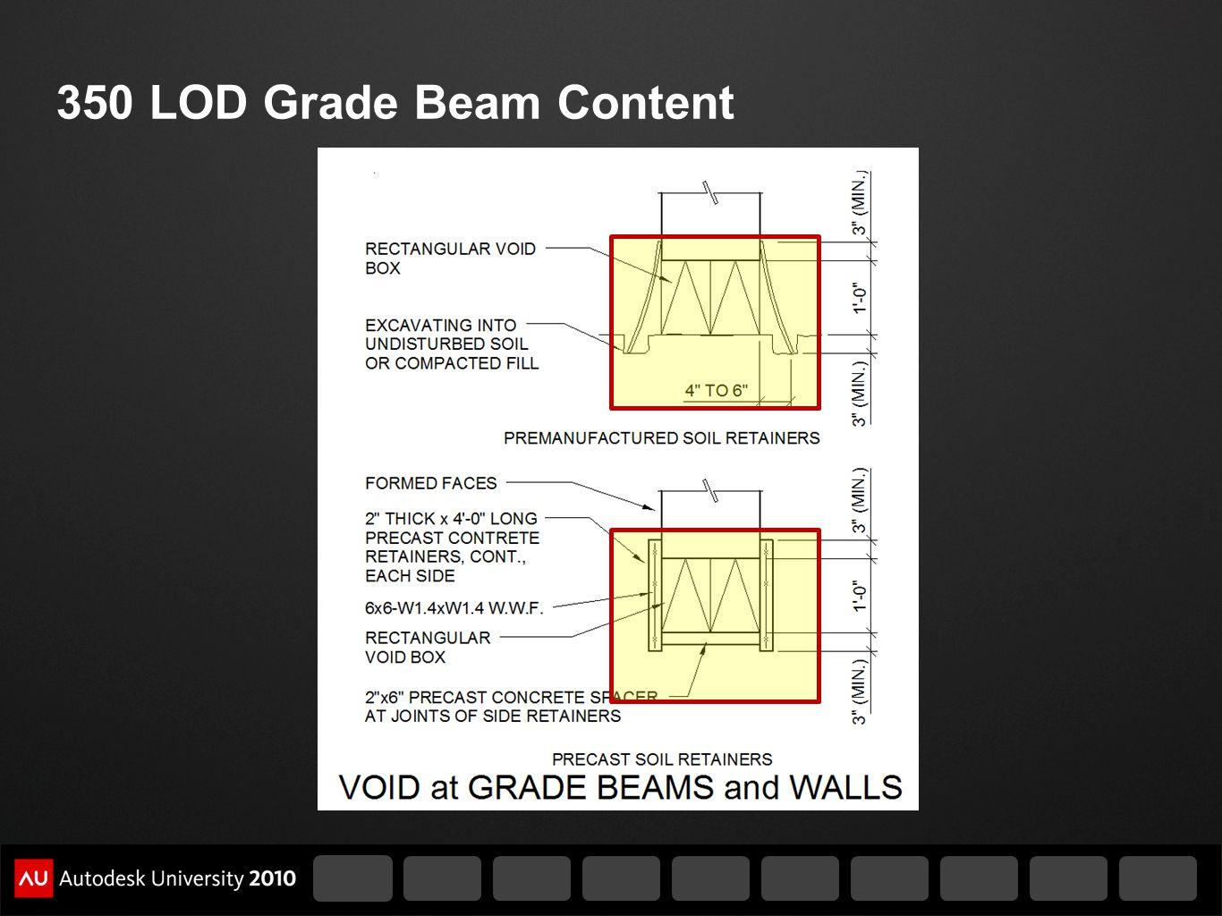 350 LOD Grade Beam Content