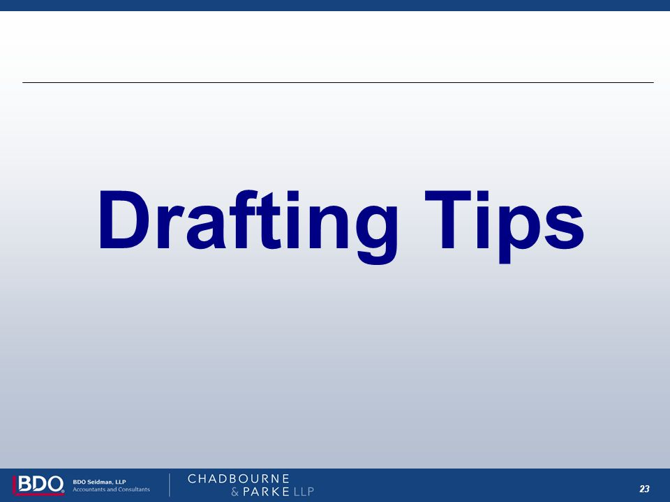 23 Drafting Tips