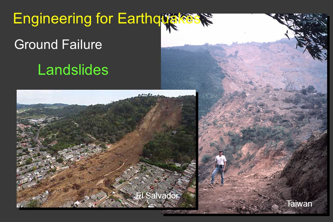Ground Failure Landslides Engineering for Earthquakes Taiwan El Salvador