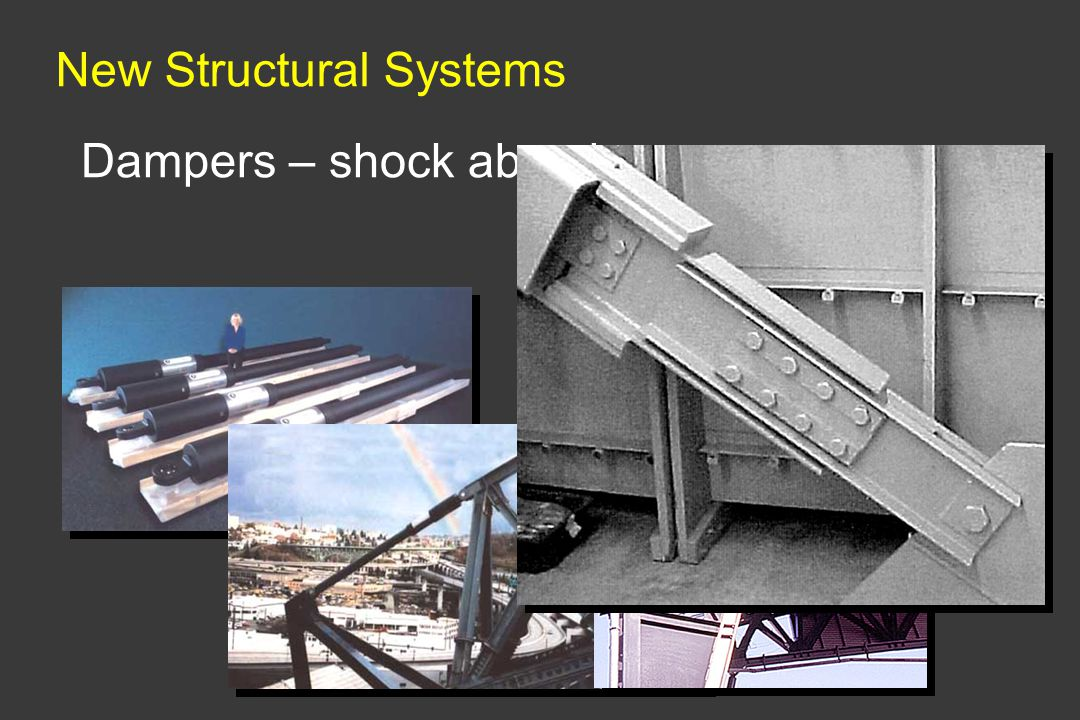 New Structural Systems Dampers – shock absorbers