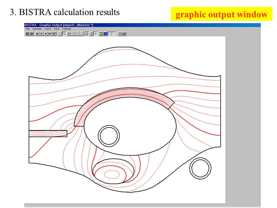 3. BISTRA calculation results graphic output window