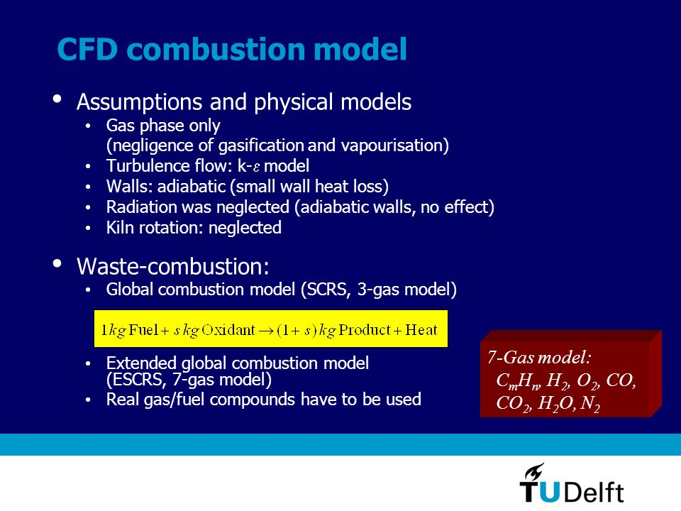 Example 2: Simulation of transient heating of dredging impellers in a mobile furnace Fuel combustion Oil (red diesel) simplified as gas, 3-gas model (CEBU=25) Radiation IMMERSOL model (Ka=0.1, Kb=0.001) Metal surface emissivity: 0.05-1.0 Wall emissivity: 0.8 Conjugate heat transfer CAD geometry for the impeller