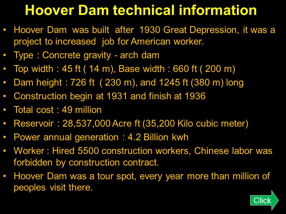 Hoover Dam Bridge technical information Designer : T. Y. Lin International ( ) 1988 finished the investigation and environmental report. The design wo
