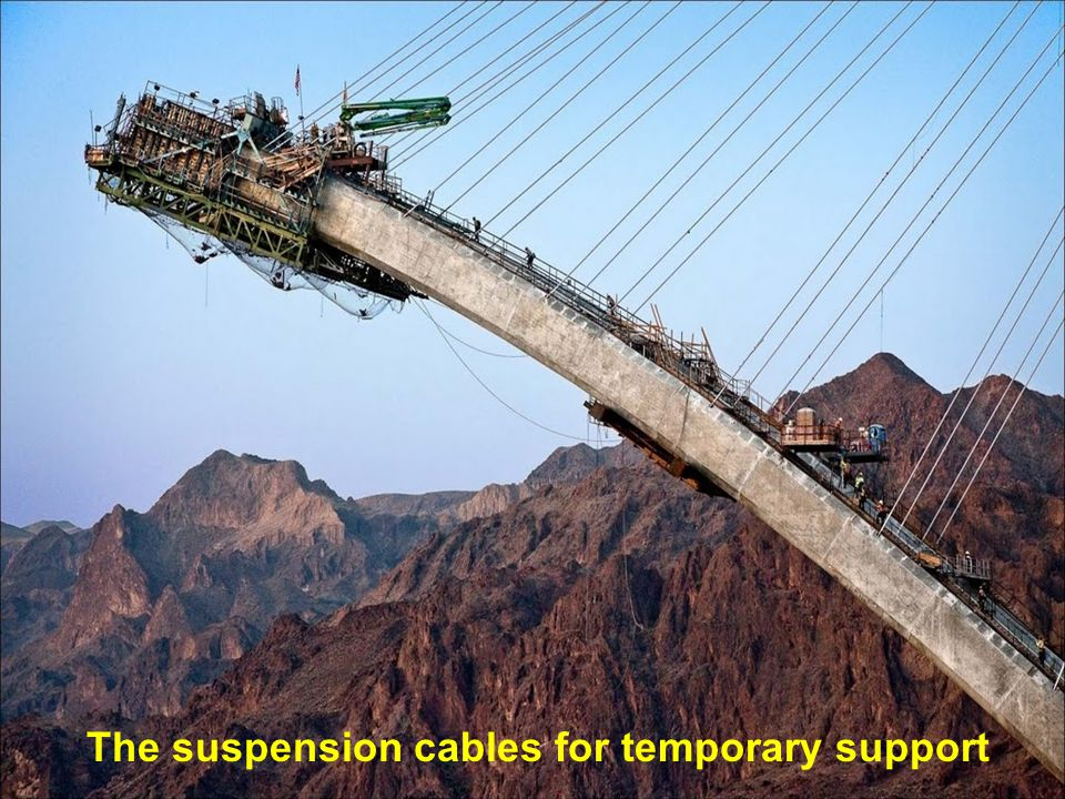 New method to build a reinforced concrete bridge without the conventional temporary shoring