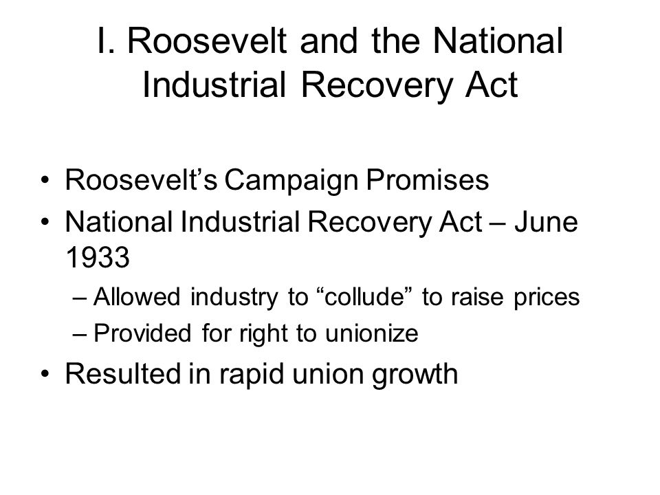 II.Background to the National Labor Relations Act Senator Wagners bill Constitutionality – NLRB v.
