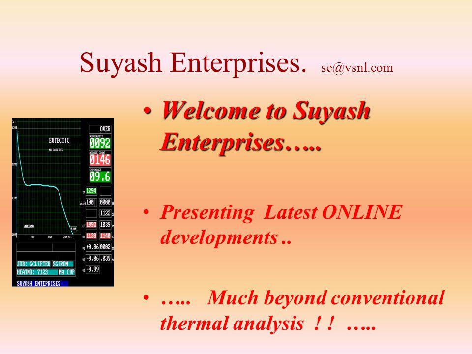 Suyash Enterprises.se@vsnl.com Welcome to Suyash Enterprises…..Welcome to Suyash Enterprises…..