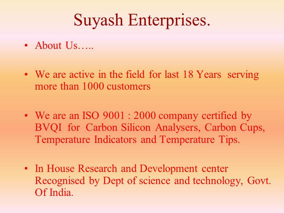 Suyash Enterprises.About Us…..