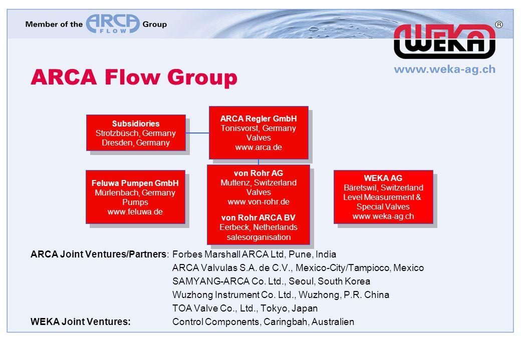 ARCA Flow Group Feluwa Pumpen GmbH Mürlenbach, Germany Pumps www.feluwa.de Feluwa Pumpen GmbH Mürlenbach, Germany Pumps www.feluwa.de ARCA Regler GmbH