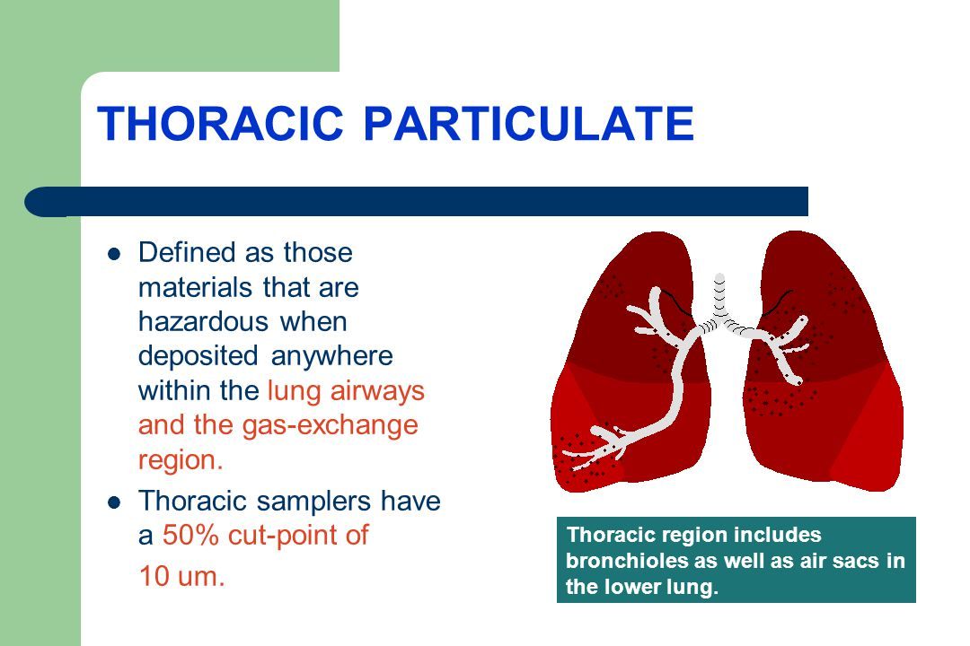 THORACIC TLVs AS OF 2014 Sulfuric acid- TLV of 0.2 mg/m3 as thoracic particulate.