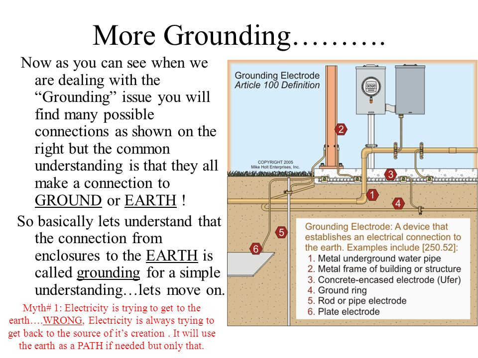 More Grounding………. Now as you can see when we are dealing with the Grounding issue you will find many possible connections as shown on the right but t