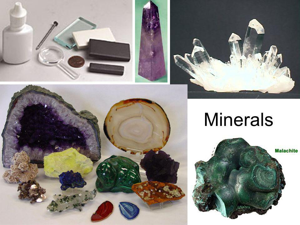 Mineral Definition A naturally occurring, inorganic solid that has a crystalline structure and a definite chemical composition.