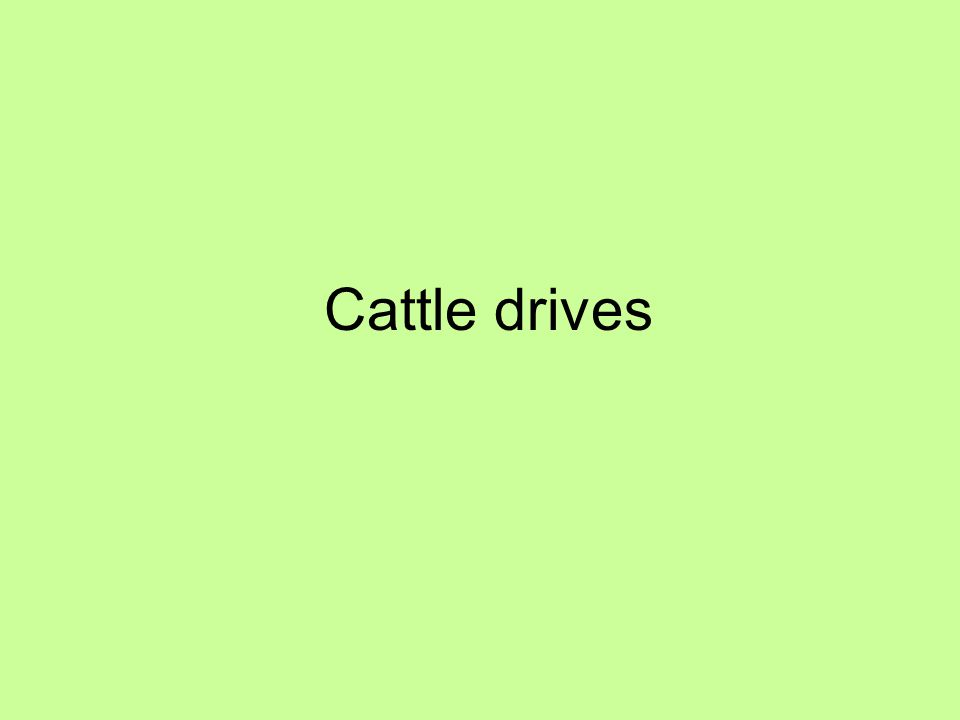 Cattle drives