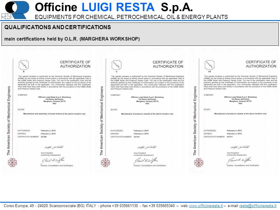 Corso Europa, 49 - 24020 Scanzorosciate (BG) ITALY - phone +39 035661130 - fax +39 035665340 – web www.officineresta.it – e-mail resta@officineresta.i