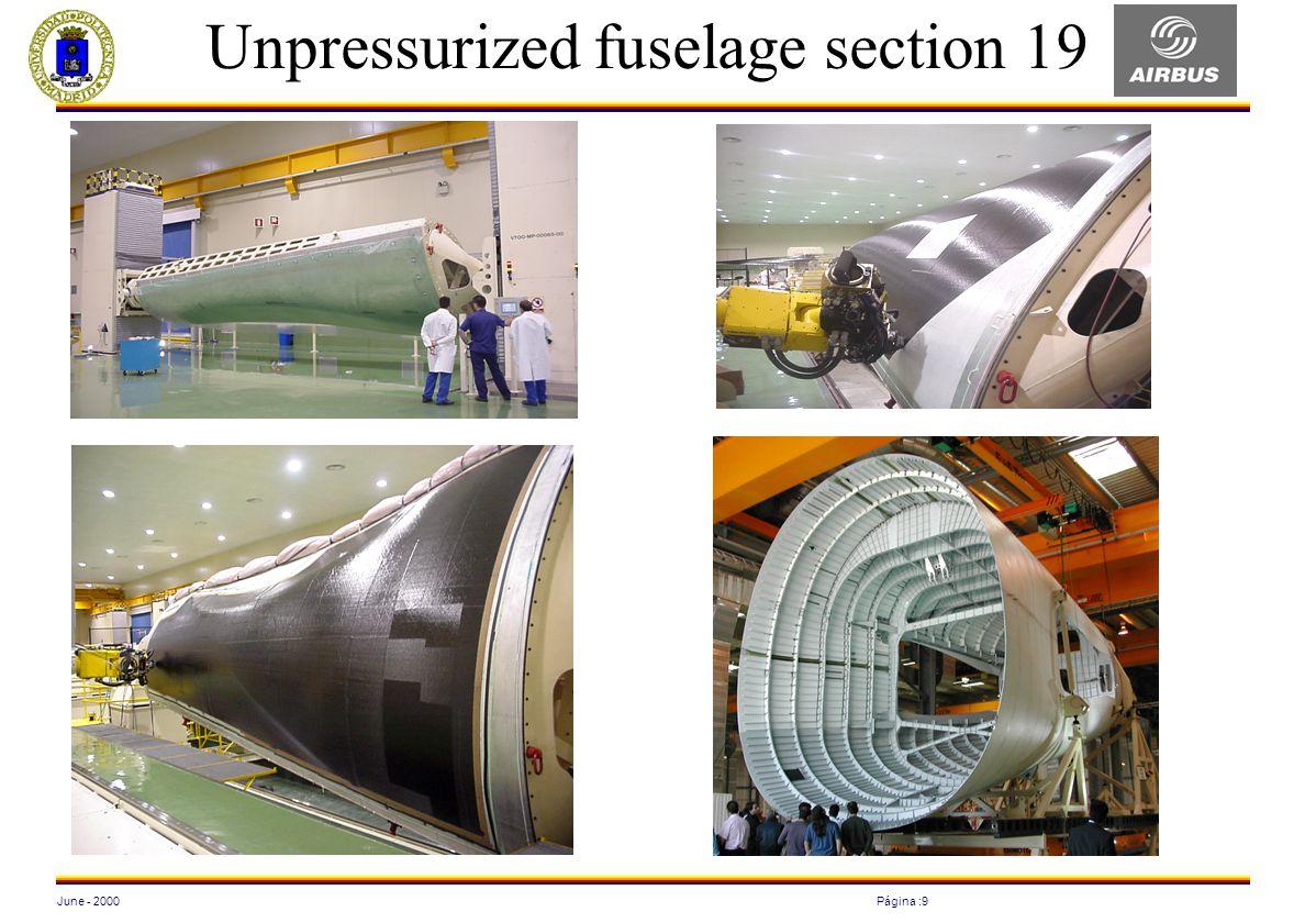 June - 2000Página :9 Unpressurized fuselage section 19