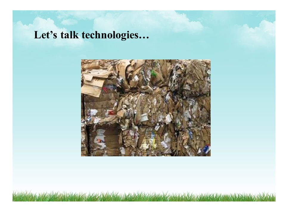 Lets talk technologies…