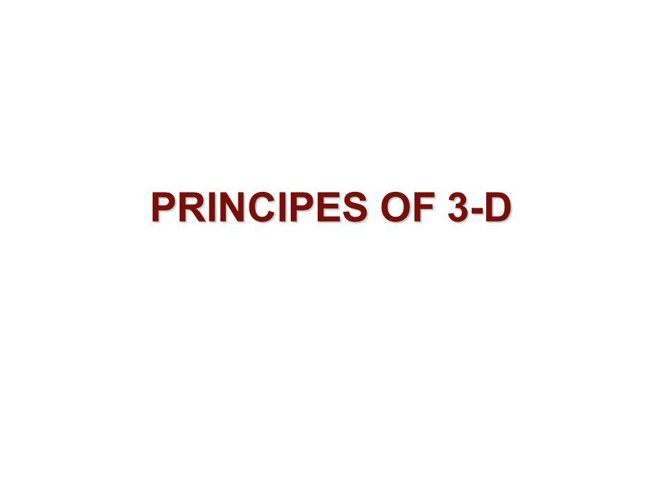 PRINCIPES OF 3-D