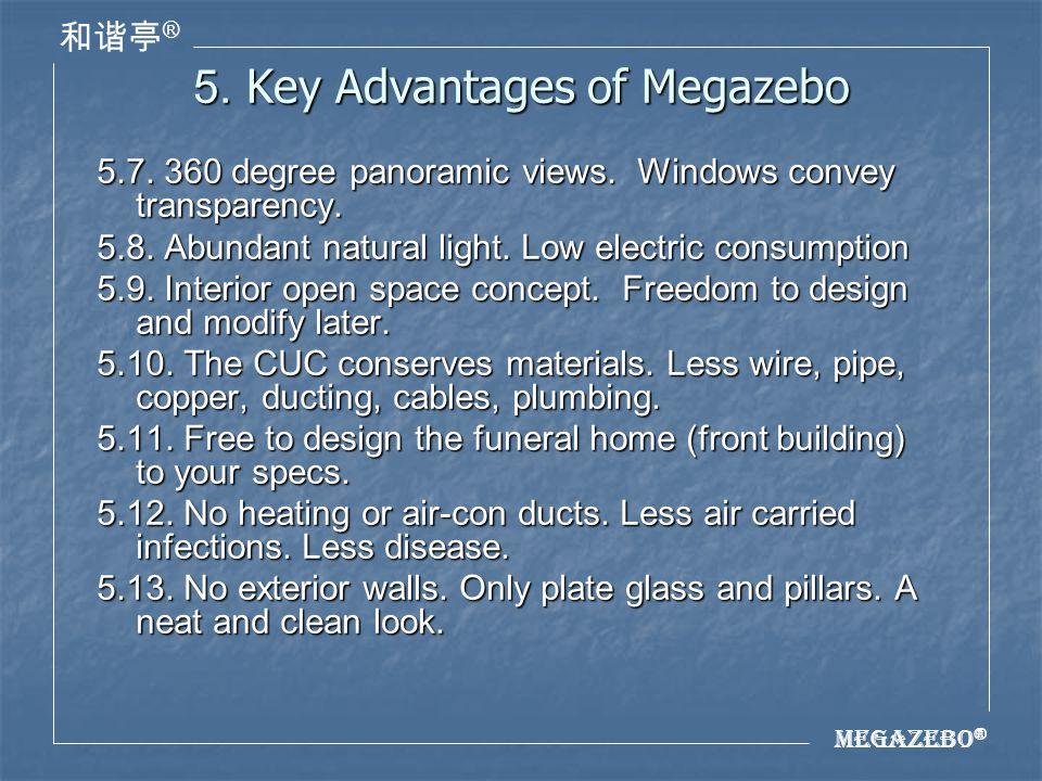 Megazebo ® ® 5. Key Advantages of Megazebo 5.7. 360 degree panoramic views.