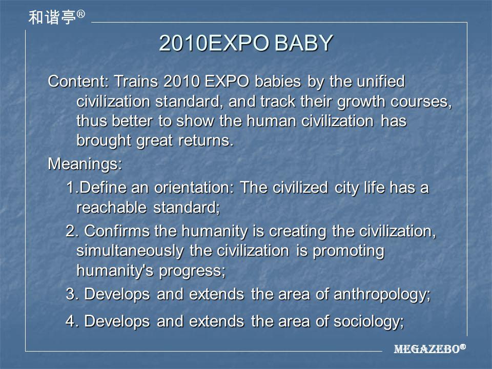 Megazebo ® ® 2010EXPO BABY 5.