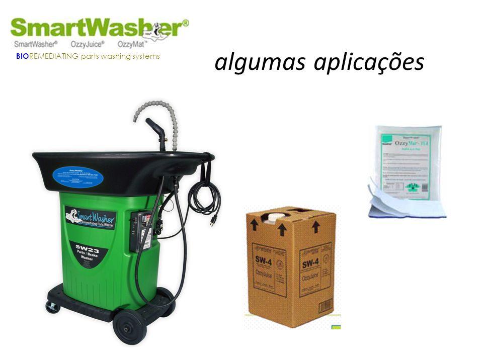 algumas aplicações BIO REMEDIATING parts washing systems