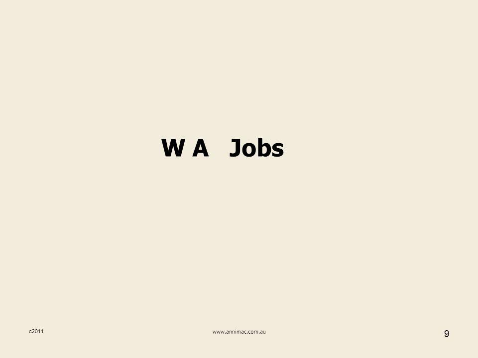 c2011www.annimac.com.au 9 W A Jobs