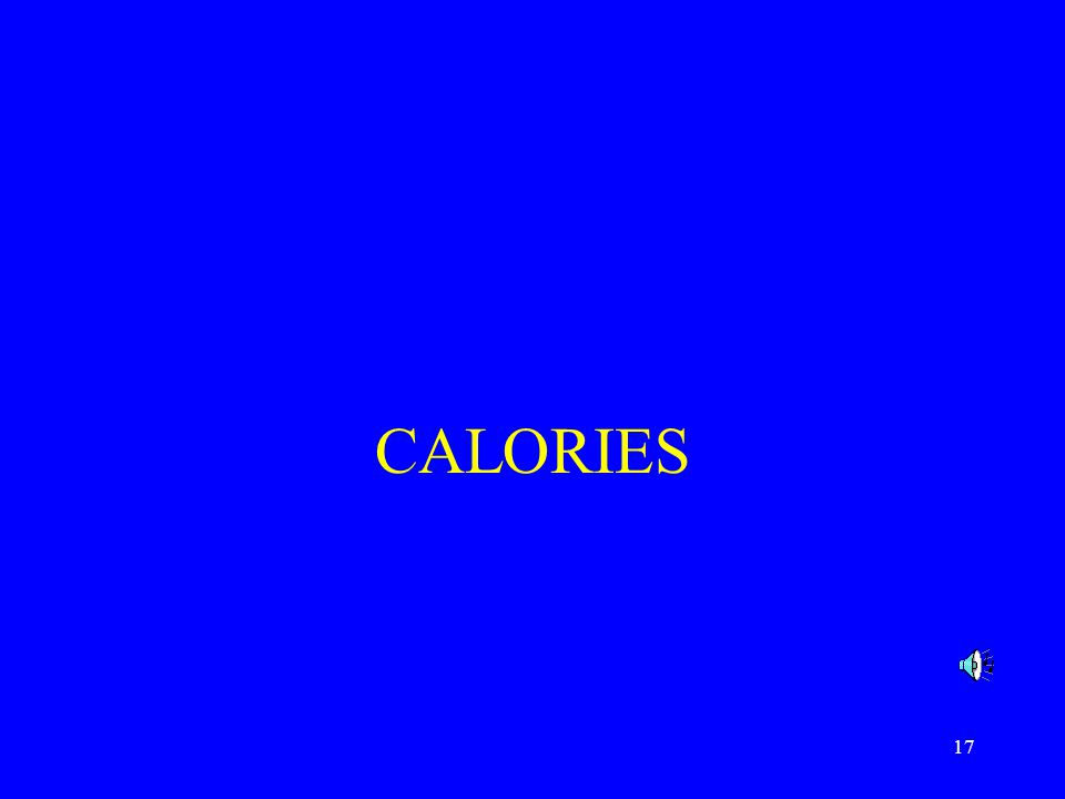 17 CALORIES