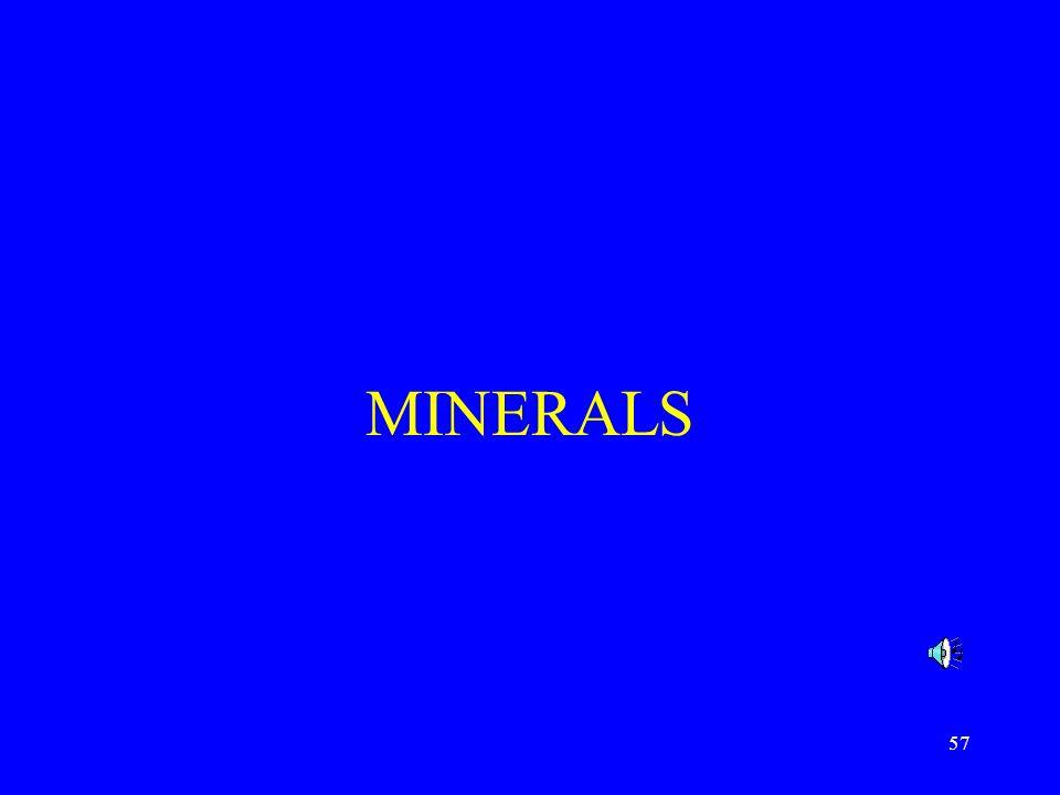 57 MINERALS
