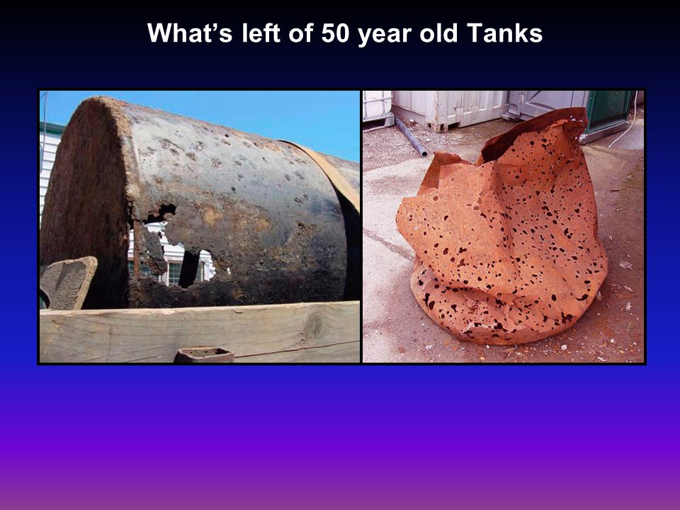 Whats left of 50 year old Tanks