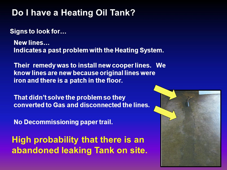 Do I have a Heating Oil Tank.