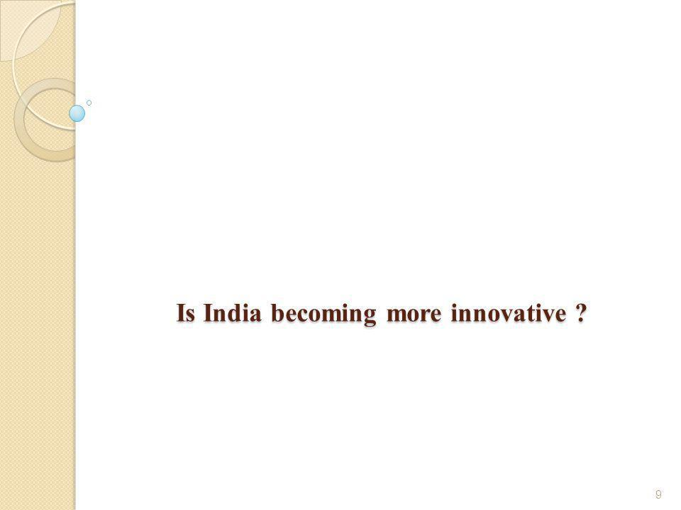 9 Is India becoming more innovative ?