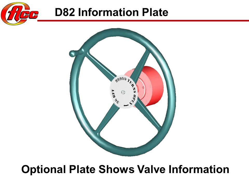 D82 Identification Plate