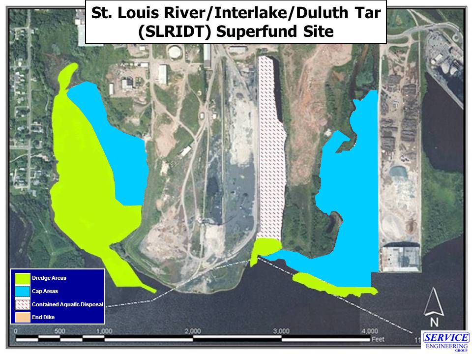 Dredge Areas Cap Areas Contained Aquatic Disposal End Dike St.