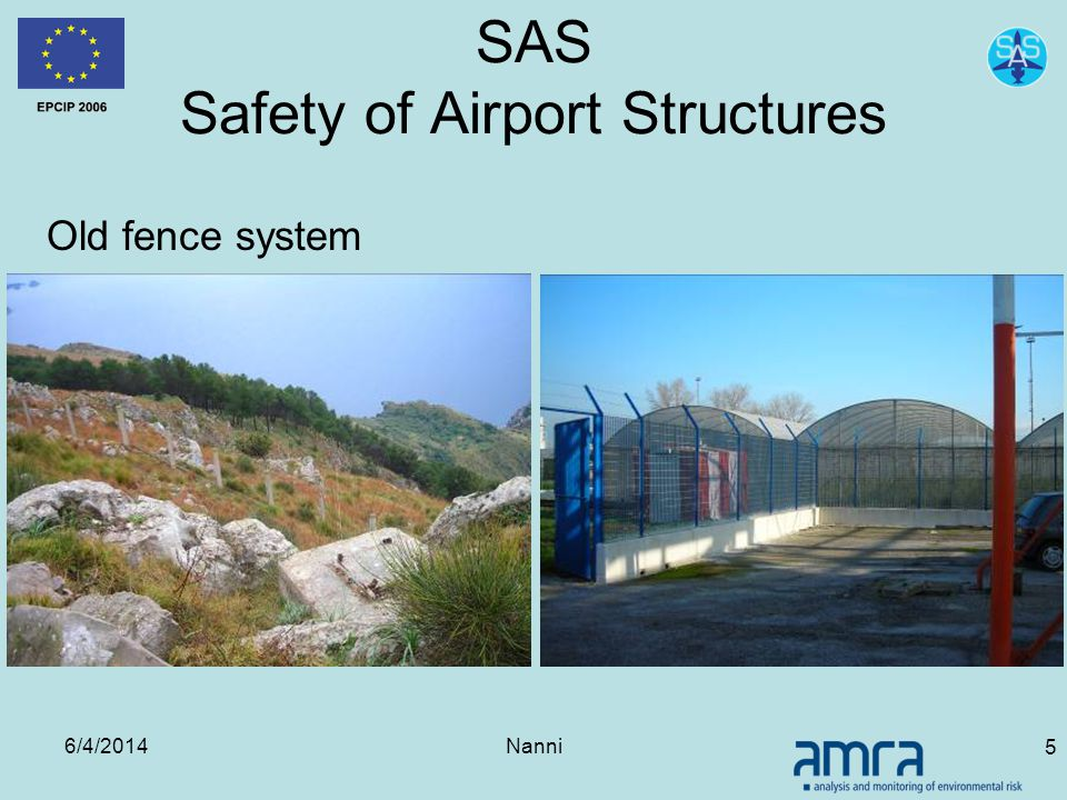 6/4/2014Nanni 5 SAS Safety of Airport Structures Old fence system