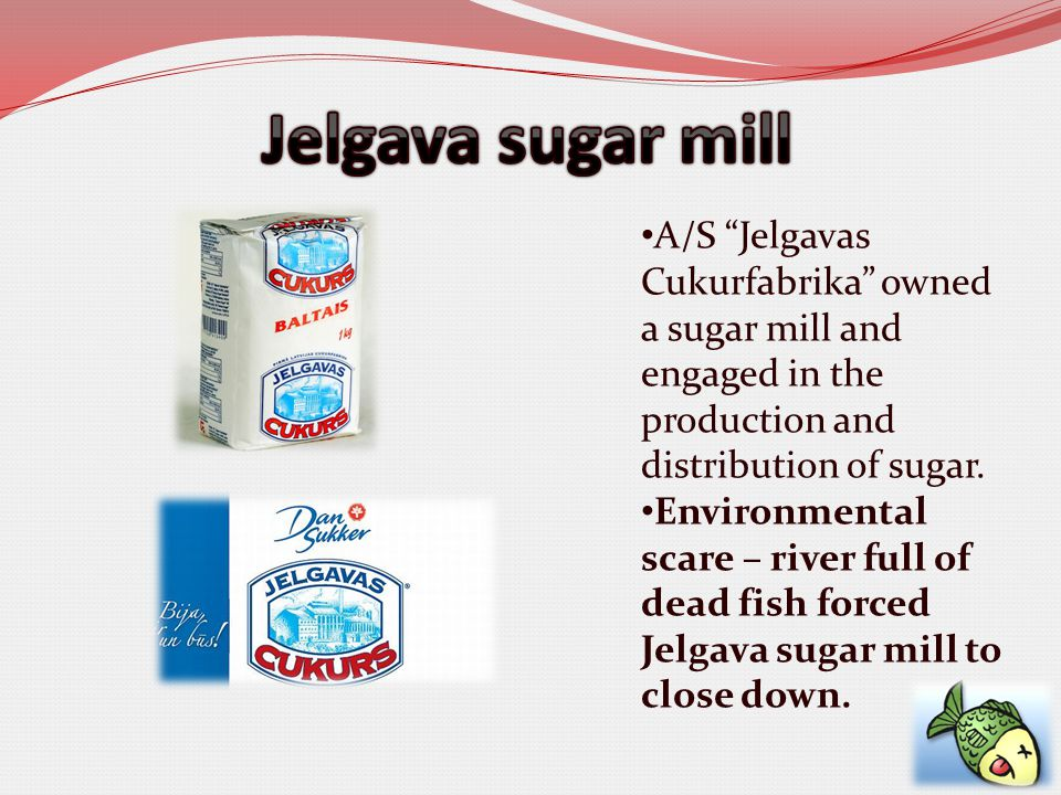 A/S Jelgavas Cukurfabrika owned a sugar mill and engaged in the production and distribution of sugar.