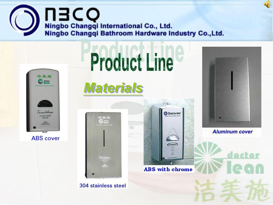 ON/OFF switch: infrared sensor Dispensing volume: 1.0~1.5ml IR sensing distance: 5~15cm Capacity: 500/800ml Material: ABS plastic/Aluminium/Stainless