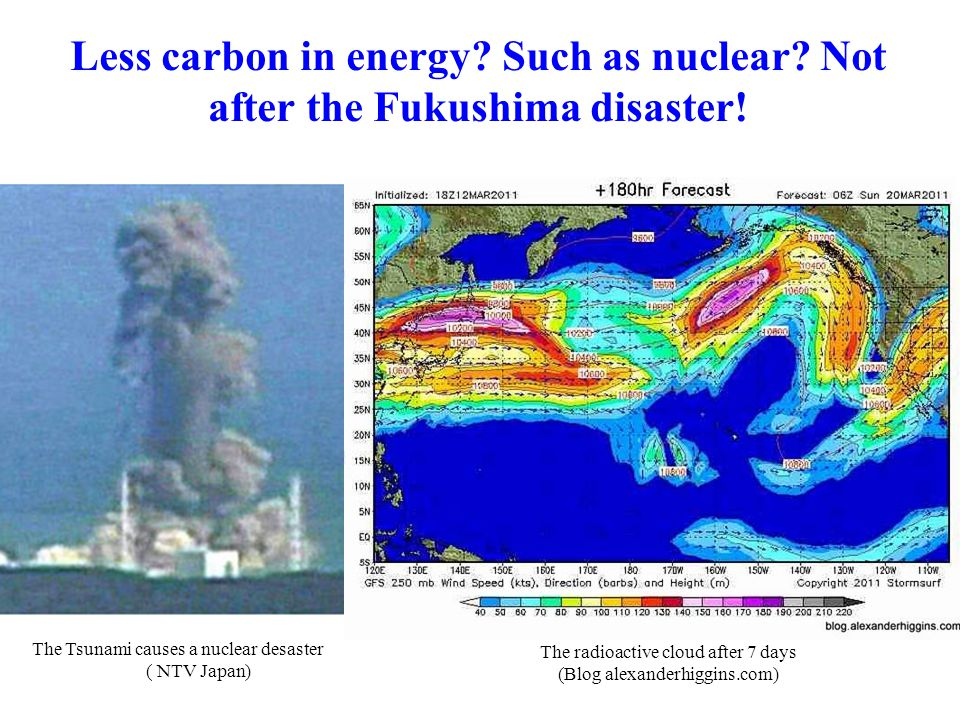 Less carbon in energy. Such as nuclear. Not after the Fukushima disaster.