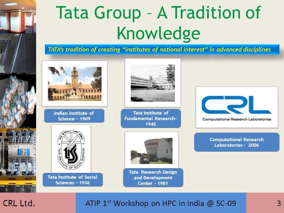 CRL Ltd.ATIP 1 st Workshop on HPC in India @ SC-094 Computational Research Laboratories Ltd.