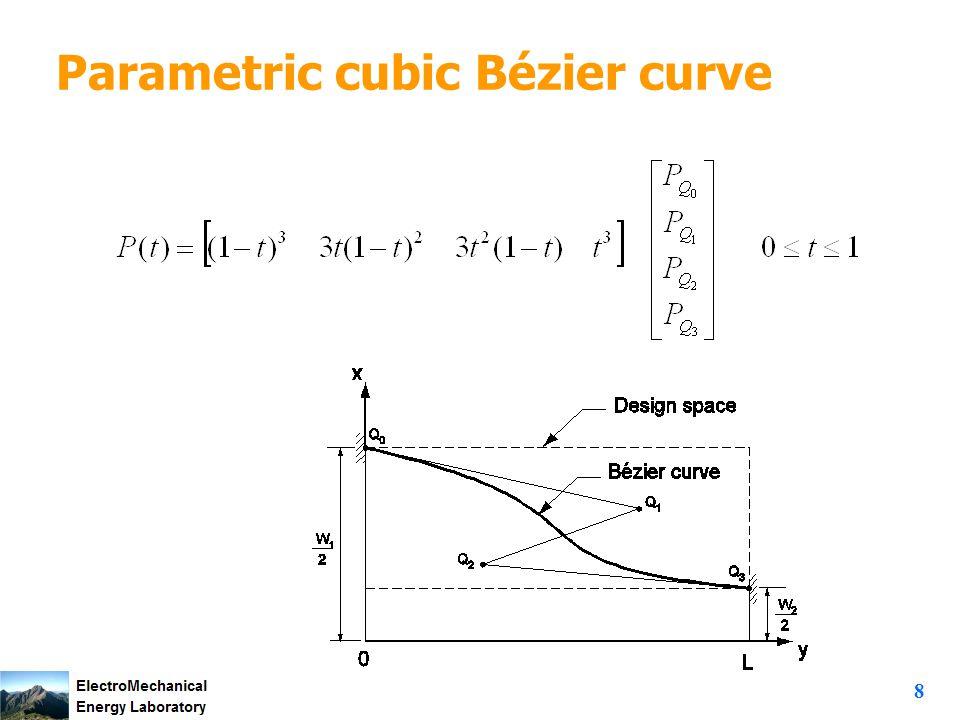 8 Parametric cubic Bézier curve