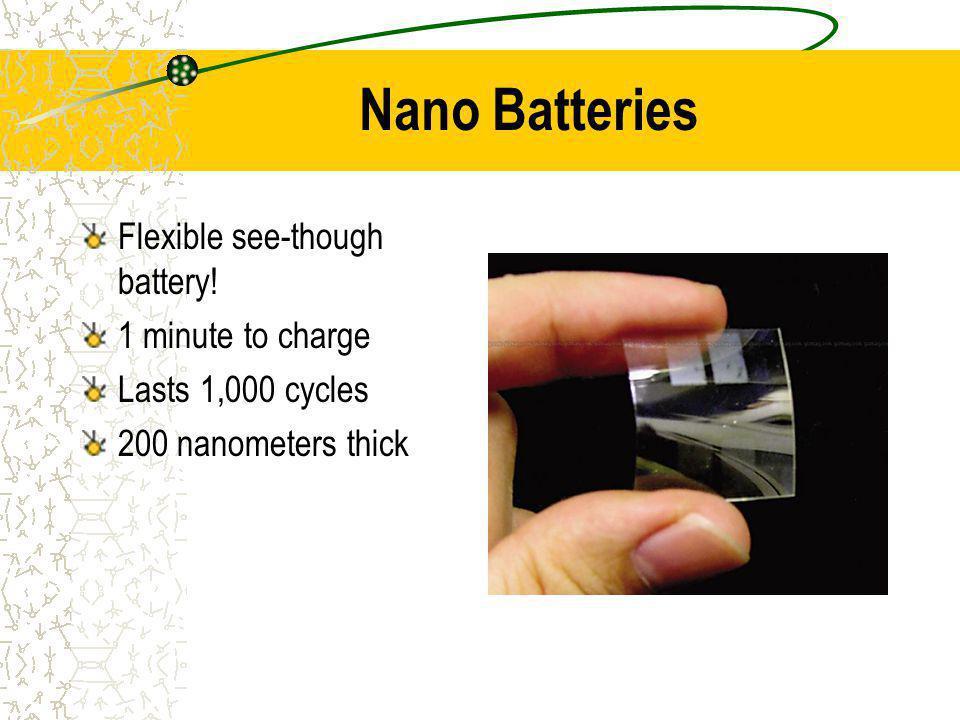 Nano Batteries Flexible see-though battery.