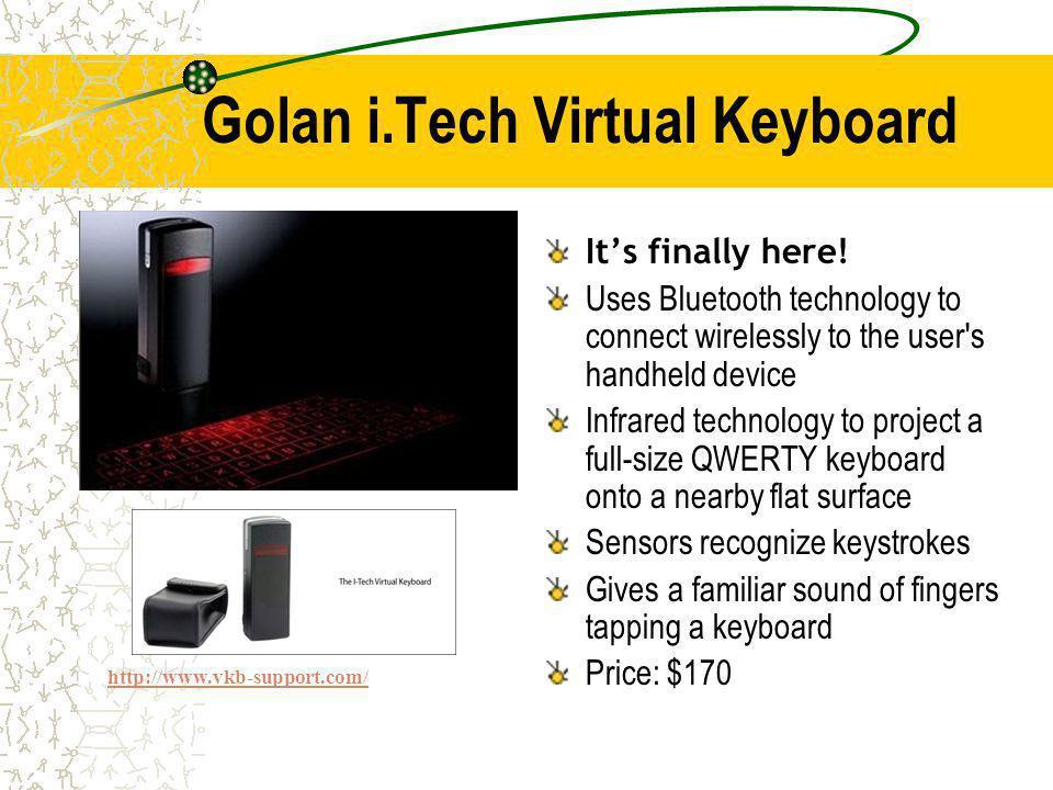 Golan i.Tech Virtual Keyboard Its finally here.