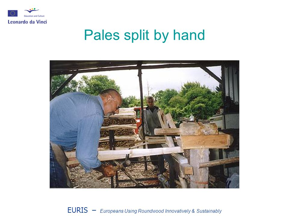 EURIS – Europeans Using Roundwood Innovatively & Sustainably Pales split by hand