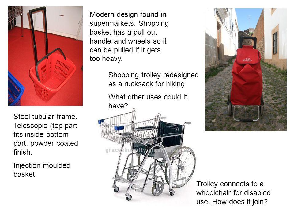 Modern design found in supermarkets.