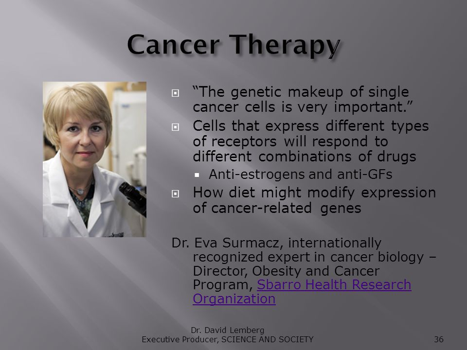 The genetic makeup of single cancer cells is very important.