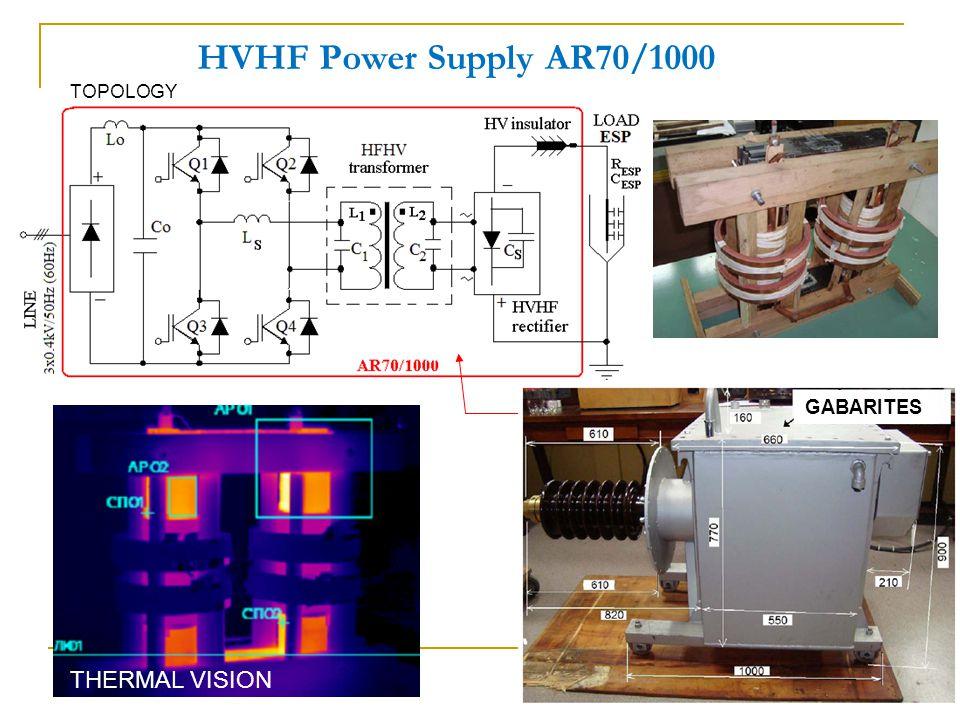 HVHF Power Supply AR70/1000 THERMAL VISION TOPOLOGY GABARITES