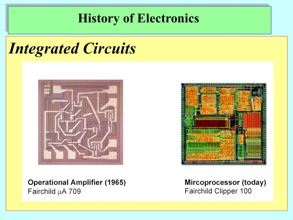 Integrated Circuits History of Electronics