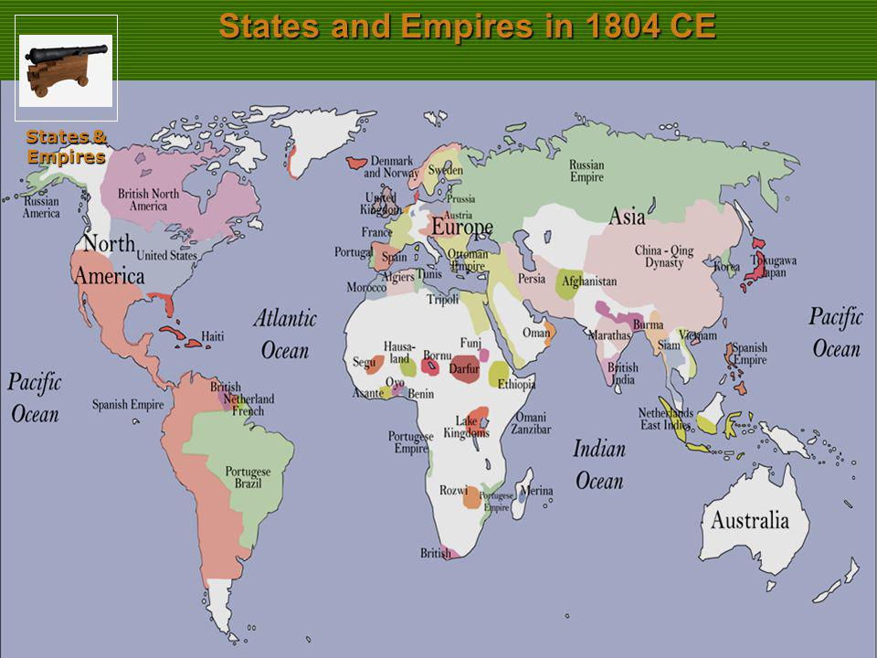 States and Empires in 1804 CE States & Empires Slide 35