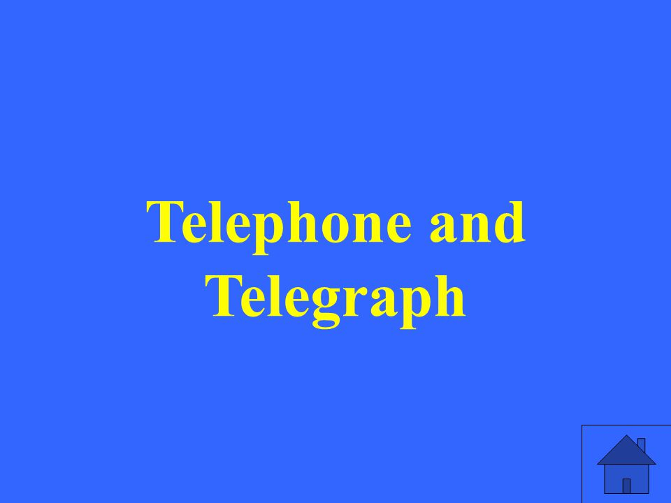Telephone and Telegraph