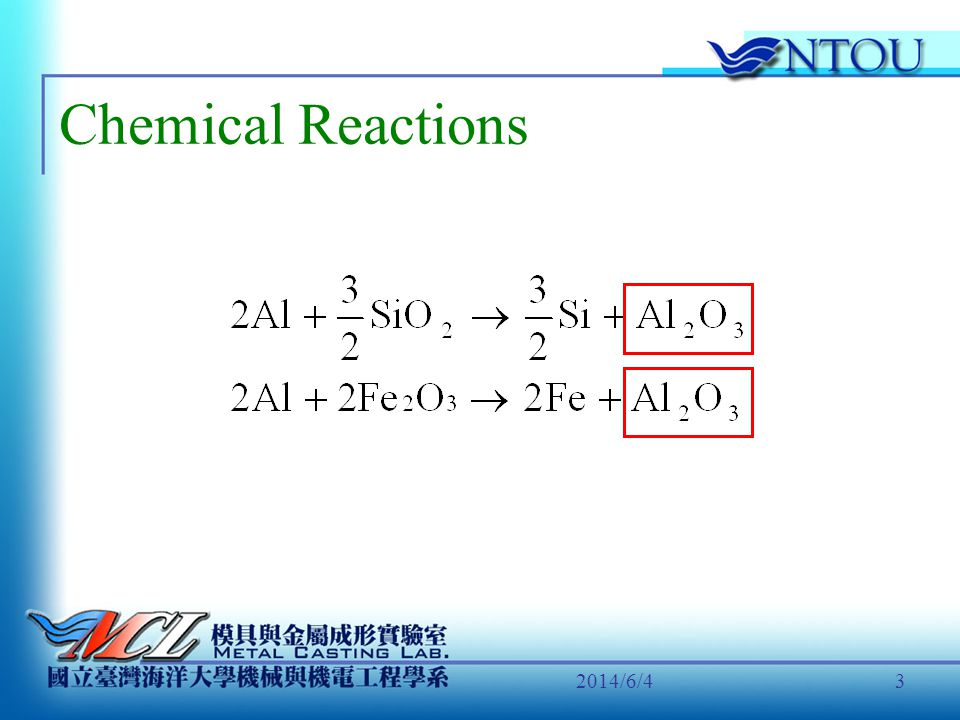 2014/6/43 Chemical Reactions