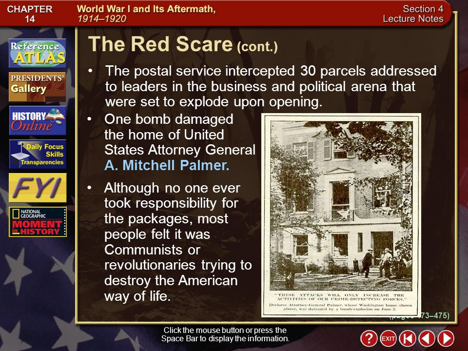 Section 4-15 The postal service intercepted 30 parcels addressed to leaders in the business and political arena that were set to explode upon opening.