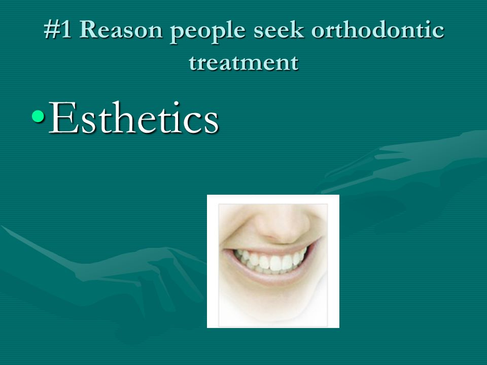 Indications for Ortho Treatment Impaired chewing (Mastication)Impaired chewing (Mastication) Crowding (Esthetics)Crowding (Esthetics) TMJ dysfunctionTMJ dysfunction Dental cariesDental caries Impaired speechImpaired speech
